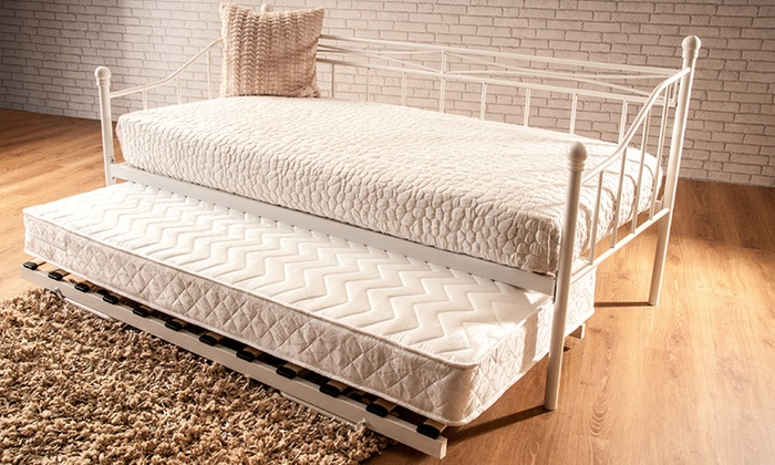 Montpellier Metal Day Bed Frame or Trundle with Optional Mattresses