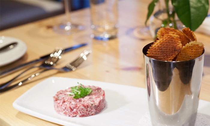 Amuse - Butcher Block Burgers: French Prix Fixe Dinner for Two at Amuse (Up to 33% Off)