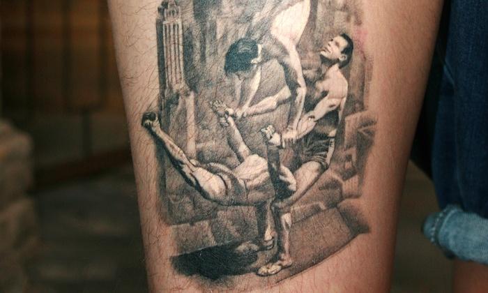 Tatuaż Cieniowany Lub Kolorowy Think Ink Tattoo Studio