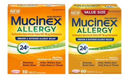 Mucinex 24 Hour Indoor And Outdoor Allergy Relief Tablets