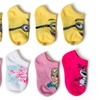 "Girls' ""Frozen"" and ""Despicable Me 2"" No-Show Socks (10 Pairs)"