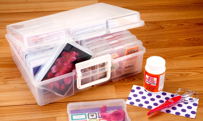 Iris Extra Large Photo And Craft Storage Container Groupon
