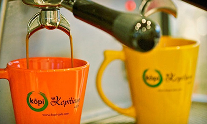 Kopitiam Cafe - Milpitas: $11 for a Five-Drink Punch Card at Kopitiam Cafe in Milpitas (Up to $22.50 Value)