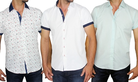 Azaro Uomo Men's Slim-Fit Button-Down Shirt in Regular and Plus Sizes