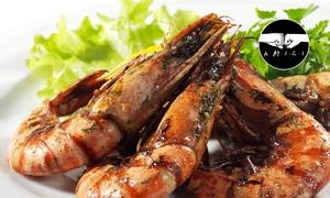 La Tana dei Lupi: Menu di pesce con 4 portate e vino (sconto 60%)