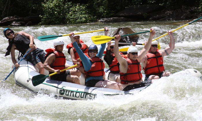 Sunburst Adventures - Benton: Whitewater Rafting on the Ocoee River from Sunburst Adventures (Up to 58% Off). Three Options Available.