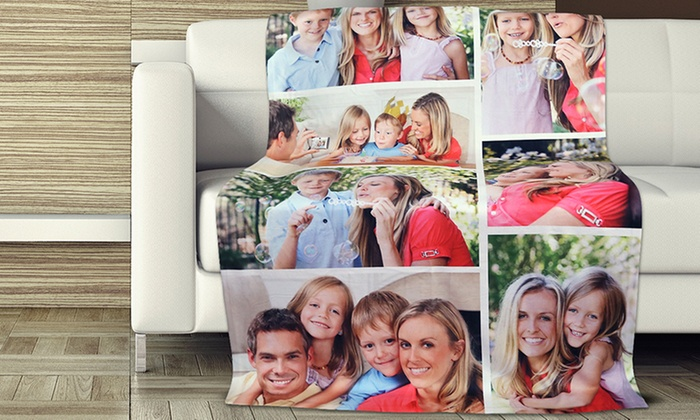 personalised photo blanket groupon goods