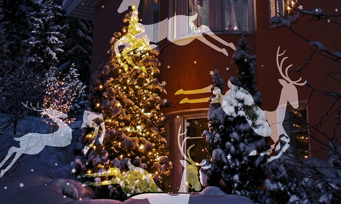 - Night Stars Holiday-Themed Outdoor Motion Light Projector Groupon