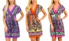 V-Neck Paisley Dress: V-Neck Paisley Dress