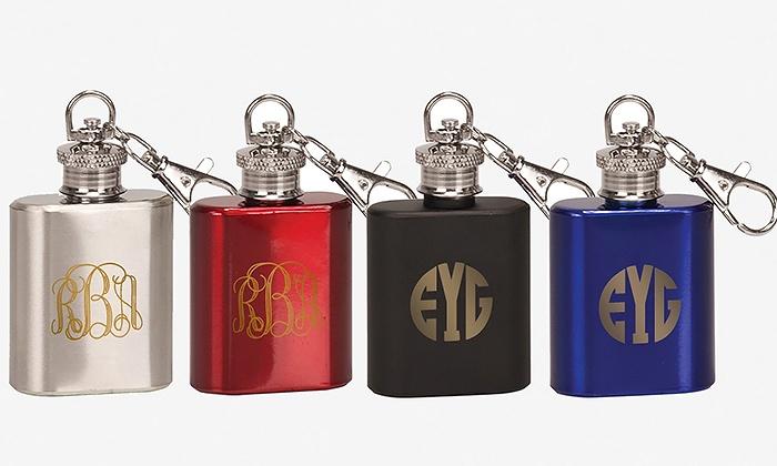 Monogram Online: $5 for 1-Ounce Flask Key Chain from Monogram Online ($14.99 Value)