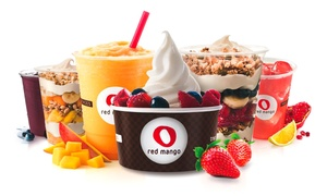 Red Mango: Four or Eight Groupons, Each Good for $5 Worth of Frozen Yogurt at Red Mango (Up to 50% Off)