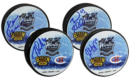 Autographed Bruins Winter Classic Pucks from Yoursportsmemorabiliastore.com (32% Off). Nine Players Available. da59ef32-7417-d253-794e-f8838018fb03