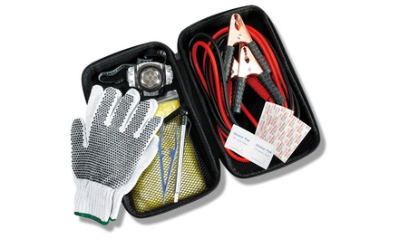 12-Piece Roadside Emergency Kit