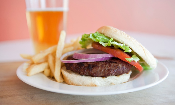 The Long Room - New York: Burgers or Flatbread Pizzas for Two or Four with Beer at The Long Room (Up to 56% Off)