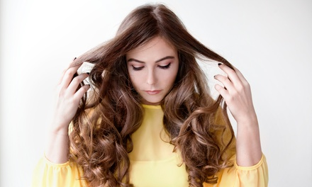 Haircut Package with Optional Partial or Full Highlights or Keratin Treatment at Lotus Salon (Up to 56% Off)
