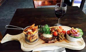 The Command House: Steak Meal with Sides and Wine or Beer for Two or Four at The Command House (Up to 57% Off)