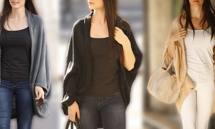 One, Two, or Three Women's Oversize Batwing Cardigans in Choice of Colour
