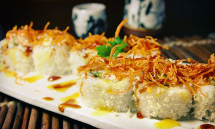 Hanabi Sushi & Grill - Downtown: Sushi and Japanese Dinner Cuisine for Two or Four at Hanabi Sushi & Grill (Half Off)