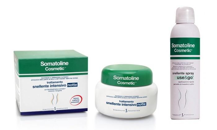 Groupon Goods Global GmbH: Somatoline snellente 7 Notti da 400 ml e Somatoline Use&go spray da 200 ml