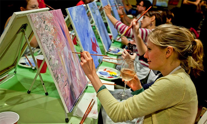 Paint Nite - Multiple Locations: Paint Nite Painting Event at a Local Bar (Up to 46% Off)