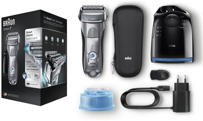 Groupon Goods Global GmbH: Braun 7898cc Series 7 Men's Electric Shaver With Free Delivery