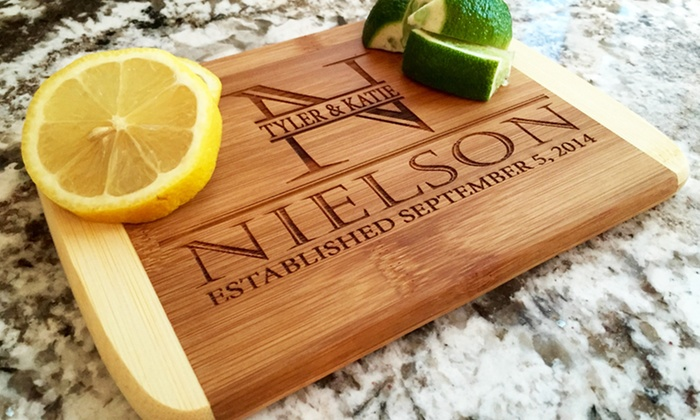 One, Two, Three, Four, Five, or Ten Custom Cutting Boards from Qualtry (Up to 87% Off). Six Options Available.