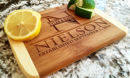 One, Two, Three, Four, Five, or Ten Custom Cutting Boards from Qualtry (Up to 86% Off). Six Options Available.