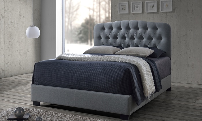 Wellington tufted arch bed groupon for Beds wellington