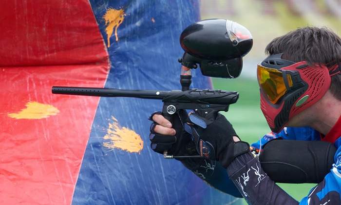 Paintball International - Multiple Locations: All-Day Paintball Package for 4, 6, or 12 from Paintball International (Up to85%Off)