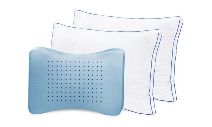 MemoryLoft Gusseted Memory-Foam Pillows:  MemoryLoft Gusseted Moisture-Wicking Memory-Foam Pillows (2-Pack)