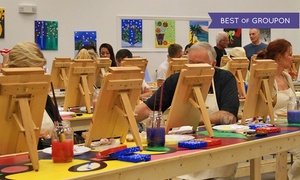 Splash Paint and Wine: Painting Class for Couples at Splash Paint and Wine (Up to 39% Off)