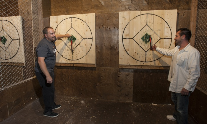 Axe Throwing Experience for Two, Four, or Six at Maxemus Axe Throwing (Up to 50% Off). Five Options Available.