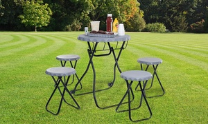 Portable Picnic-Table Tailgating Set (5-Piece): Portable Picnic-Table Tailgating Set (5-Piece)