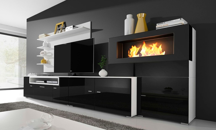 ensemble de salon chemin e olympo groupon. Black Bedroom Furniture Sets. Home Design Ideas