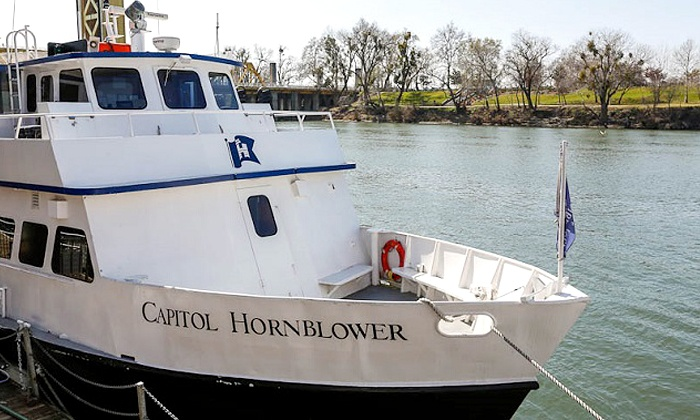Hornblower Cruises & Events - Downtown Sacramento: Historical Sacramento River Cruise for Two or Four, or Family of Four (Up to 40% Off)