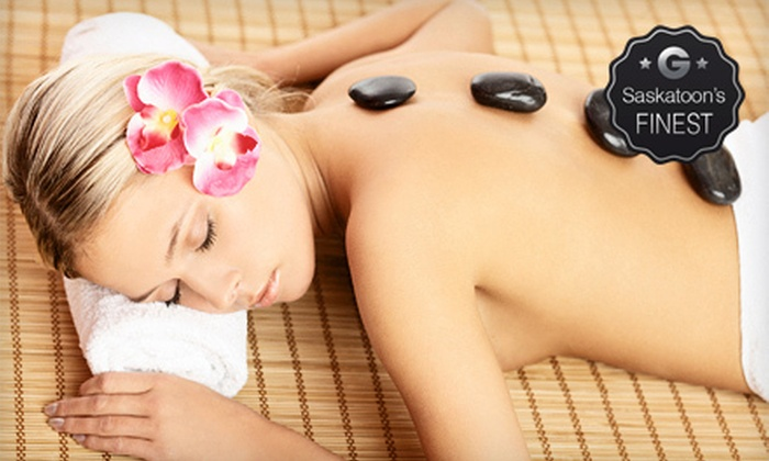 SunSera Salons - Multiple Locations: 60- or 90-Minute Hot-Stone Massage with Options for Infrared-Sauna Session at SunSera Salons (Up to 55% Off)