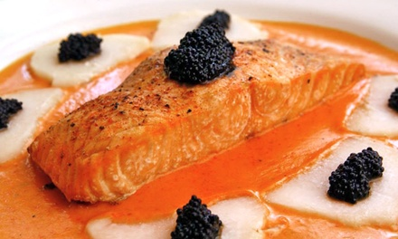 Continental Cuisine for Dinner at Russia House Restaurant (Up to 50% Off). Two Options Available.