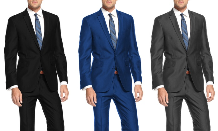 Mundo Uomo Men's Slim-Fit Suit | Groupon Goods