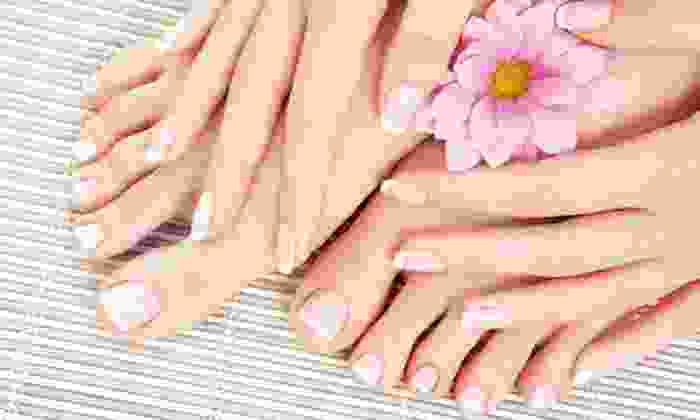 Oasis Nails - Citrus Heights: One or Three Mani-Pedis at Oasis Nails (Up to 58% Off)