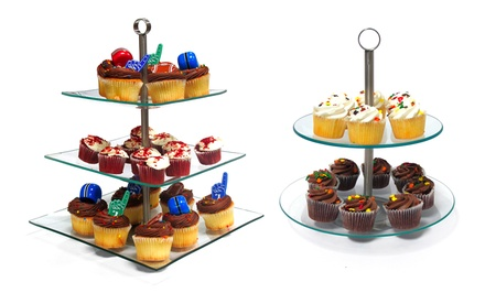 revolving cake stand glass dessert stands groupon goods 7084