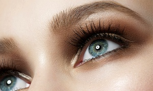 Hair Plus: Permanent Eyebrow Makeup or Eyeliner at Hair Plus (Up to 55% Off)