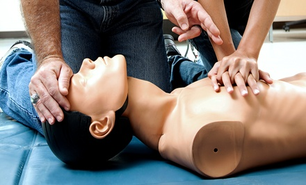 CPR Certification Class for One or Two at Red Emergency Prevention Services (Up to 55% Off). Four Options Available.