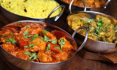 Menú hindú para 2 o 4 con entrante, principal, naan, arroz, postre y botella de rioja desde 24,95 € en el P.º Marítimo