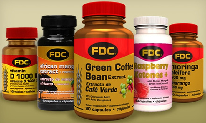 FDC Vitamins: $15 for $30 Worth of Vitamins and Supplements from FDC Vitamins