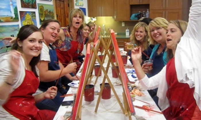 Picasso and Wine - Windsor: Painting Art Party for One or Two with Wine at Picasso and Wine (Up to 55% Off)
