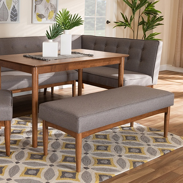 Etonnant Arvid Gray Fabric Wood Dining Nook Set (5 Piece)