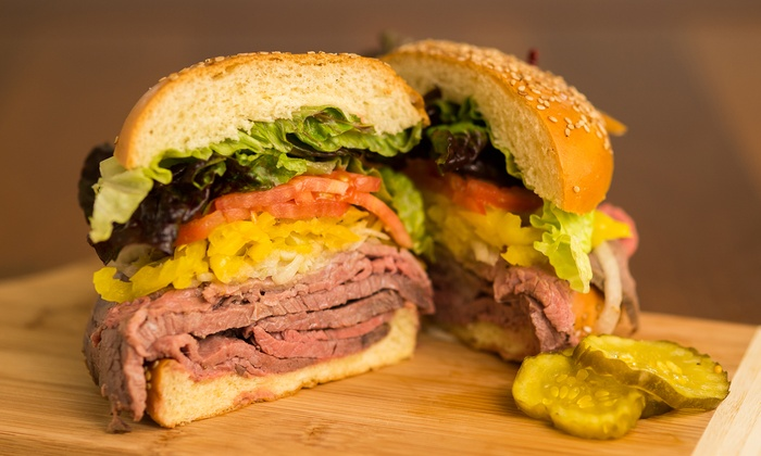 MGM Roast Beef - Brentwood - Langdon: $12 for Two Groupons, Each Good for $10 Worth of Food and Drink at MGM Roast Beef ($20 Value)