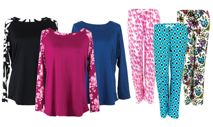 Hello Mello Women S Lounge Top And Pants 12 Colors Groupon