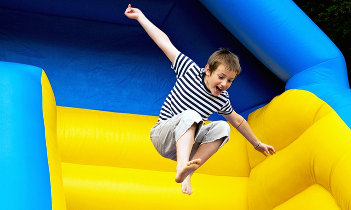 Pump It Up - Plainview: 5 or 10 Visit Open Jump Pass Punchcard or Classic Birthday Party for 12 Kids at Pump It Up (Up to 50% Off)