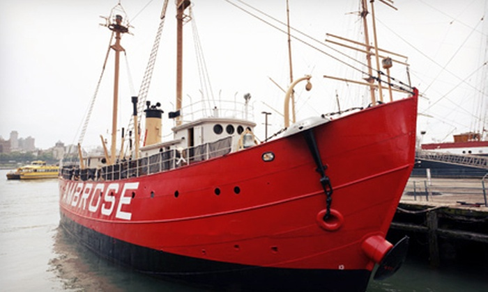 "South Street Seaport Museum - Downtown: History-Museum Visit with ""Ambrose"" Lightship Tour for Two or Four at South Street Seaport Museum (Up to 60% Off)"